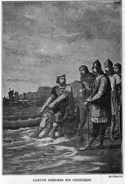 King Canute at the seaside