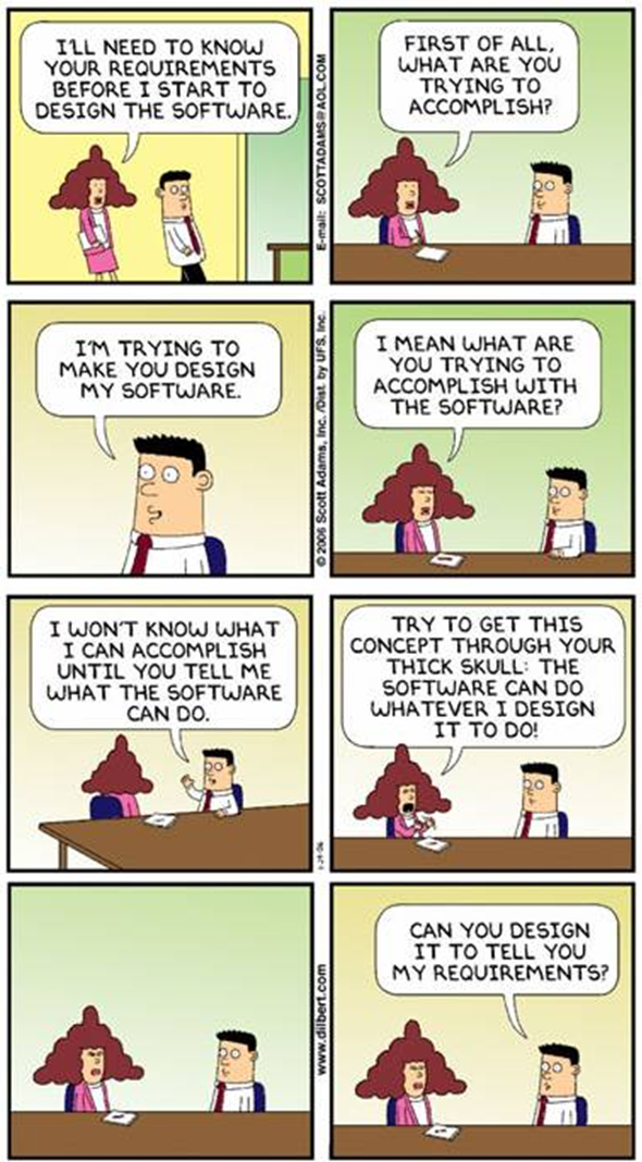 Dilbert: software design